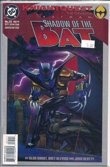 Batman Shadow of the Bat # 25, 9.2 NM -