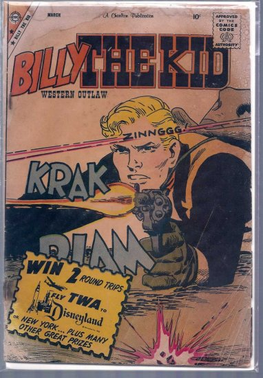 BILLY THE KID # 21, 1.8 GD -