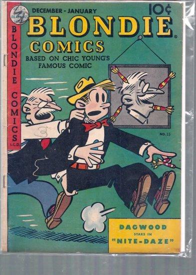 BLONDIE COMICS # 15, 3.5 VG -