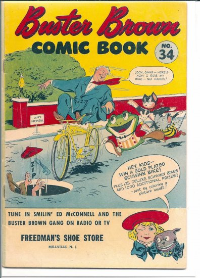 BUSTER BROWN COMIC BOOK # 34, 4.5 VG +
