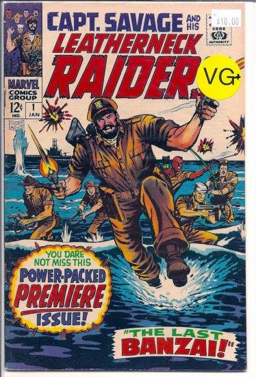 Capt. Savage And His Leatherneck Raiders # 1, 4.5 VG +