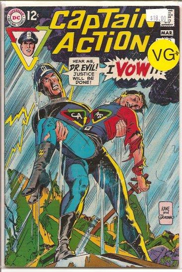Captain Action # 3, 4.5 VG +
