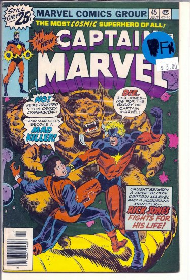 Captain Marvel # 45, 6.0 FN