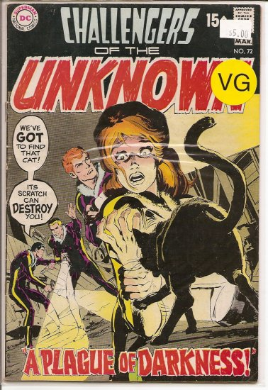 Challengers of the Unknown # 72, 4.0 VG