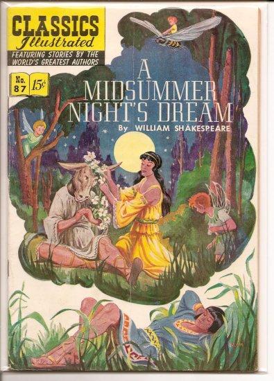 Classics Illustrated # 87, 4.5 VG +