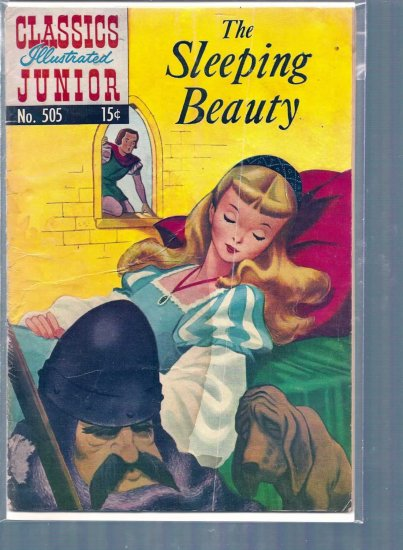 CLASSICS ILLUSTRATED JUNIOR THE SLEEPING BEAUTY # 505, 2.5 GD +