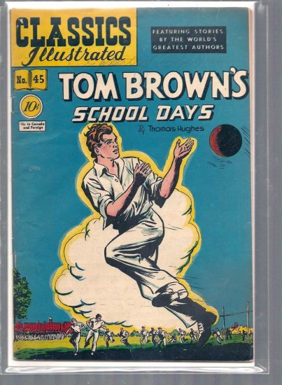CLASSICS ILLUSTRATED TOM BROWN'S SCHOOL DAYS # 28, 3.5 VG -