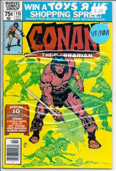 Conan # 115, 9.0 VF/NM