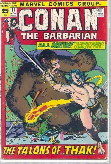 CONAN THE BARBARIAN # 11, 4.5 VG +