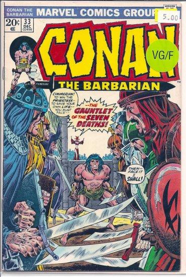 Conan The Barbarian # 33, 5.0 VG/FN