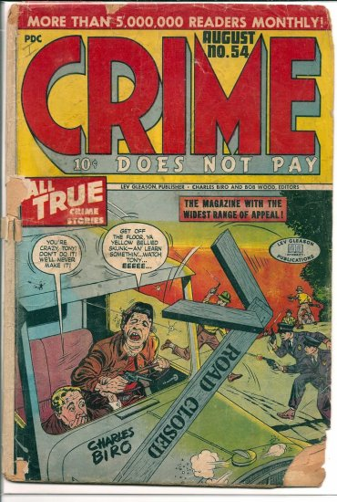CRIME DOES NOT PAY # 54, 1.0 FR