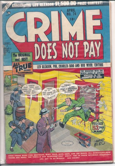 Crime Does Not Pay # 74, 2.0 GD