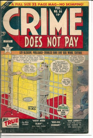 CRIME DOES NOT PAY # 84, 4.0 VG