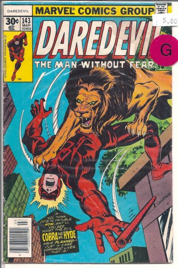 Daredevil # 143, 2.0 GD