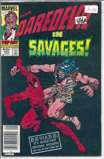 Daredevil # 202, 9.0 VF/NM