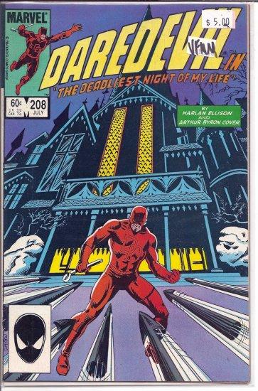 Daredevil # 208, 9.0 VF/NM