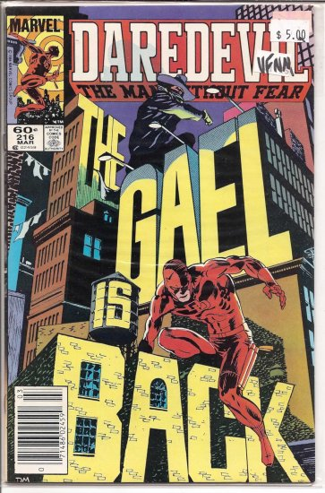 Daredevil # 216, 9.0 VF/NM