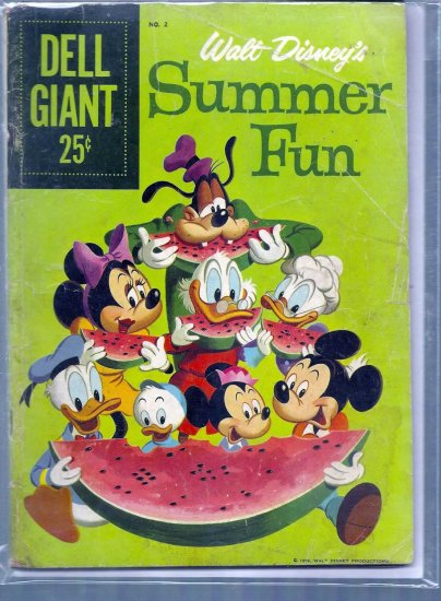 DELL GIANT COMICS SUMMER FUN # 2, 3.5 VG -