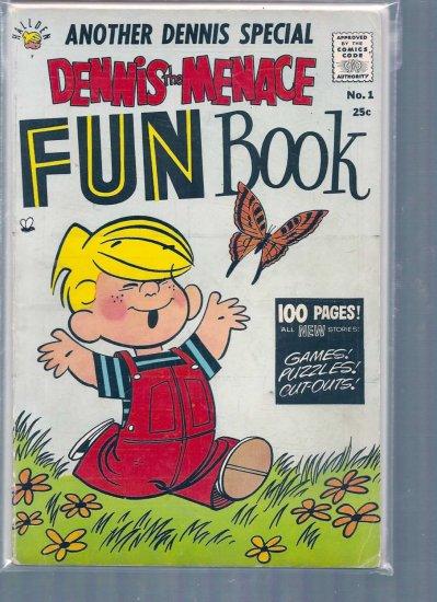 DENNIS THE MENACE FUN BOOK # 1, 4.0 VG