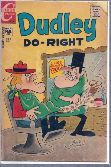 DUDLEY DO-RIGHT # 4, 3.0 GD/VG