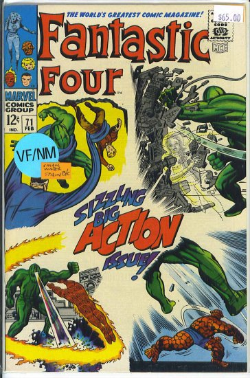 Fantastic Four # 71, 9.0 VF/NM