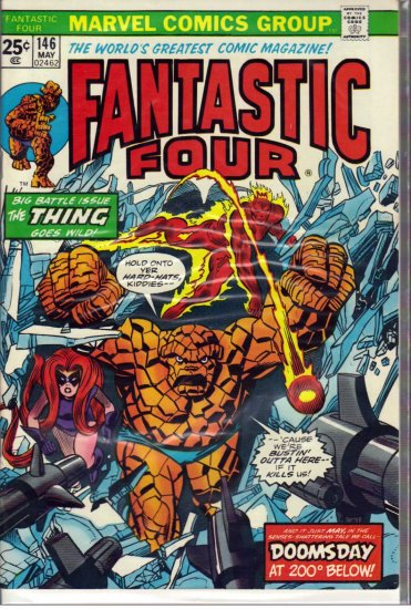 FANTASTIC FOUR # 146, 7.5 VF -