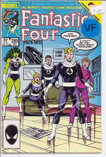 Fantastic Four # 285, 8.0 VF