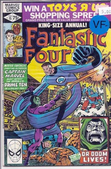 Fantastic Four Annual # 15, 7.5 VF -