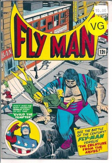 Fly Man # 34, 4.0 VG