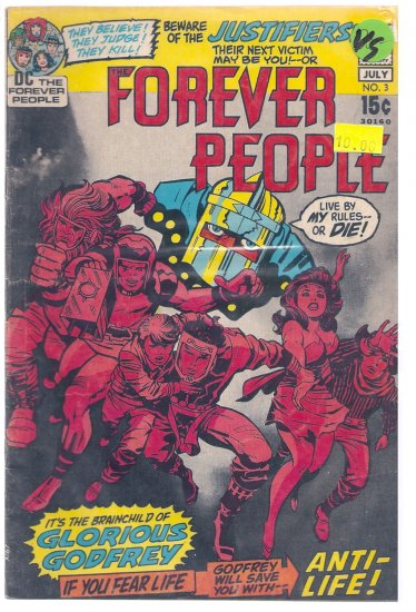 Forever People # 3, 4.0 VG