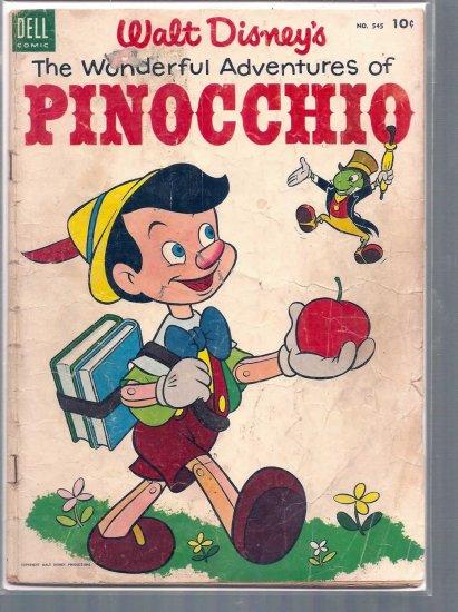 FOUR COLOR THE WONDERFUL ADVENTURS OF PINOCCHIO # 545, 1.8 GD -