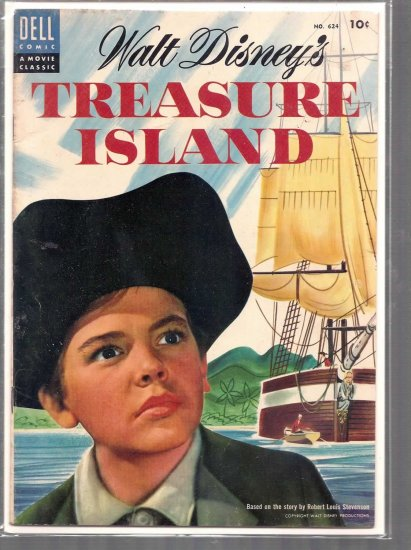 FOUR COLOR TREASURE ISLAND # 624, 4.5 VG +