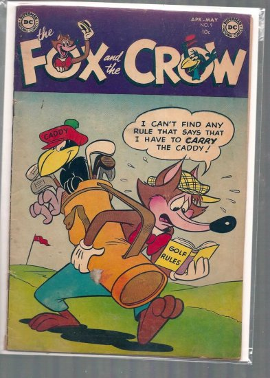 FOX AND THE CROW # 9, 2.5 GD +