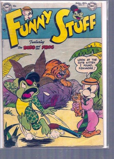 FUNNY STUFF # 71, 3.5 VG -