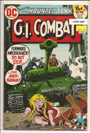 G.I. Combat # 165, 4.5 VG +