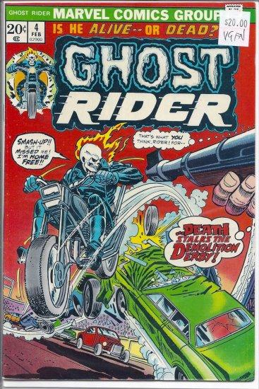 Ghost Rider # 4, 5.0 VG/FN