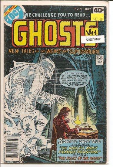 Ghosts # 78, 4.5 VG +