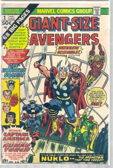 GIANT-SIZE AVENGERS # 1, 2.5 GD +