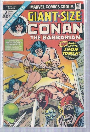 GIANT-SIZE CONAN THE BARBARIAN # 3, 4.5 VG +