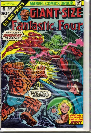 GIANT-SIZE FANTASTIC FOUR # 6, 5.0 VG/FN
