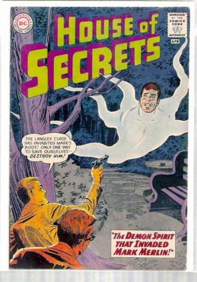 HOUSE OF SECRETS # 59, 4.0 VG