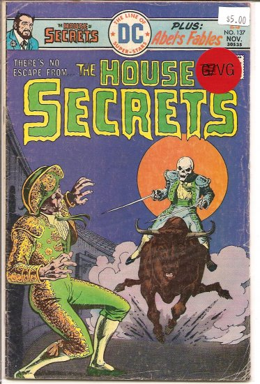 House Of Secrets # 137, 4.0 VG