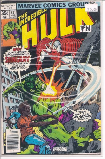 Incredible Hulk # 221, 6.0 FN