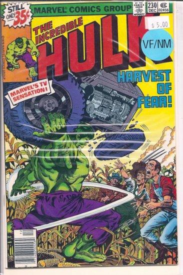 Incredible Hulk # 230, 9.0 VF/NM