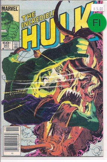 Incredible Hulk # 301, 6.0 FN