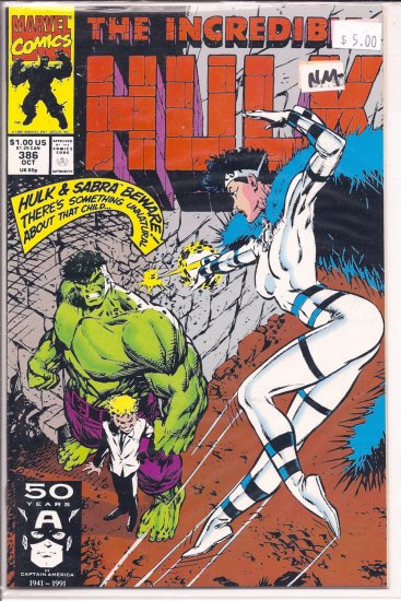 Incredible Hulk # 386, 9.2 NM -