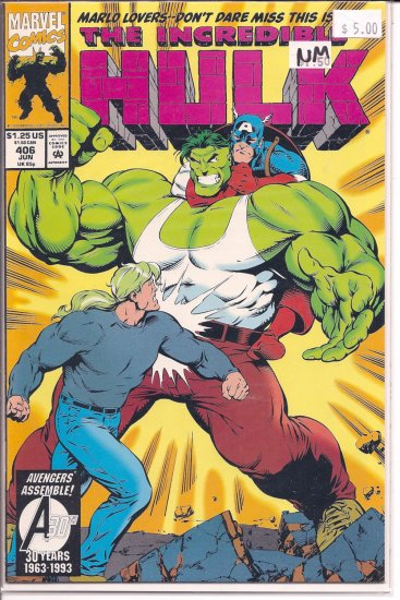 Incredible Hulk # 406, 9.4 NM