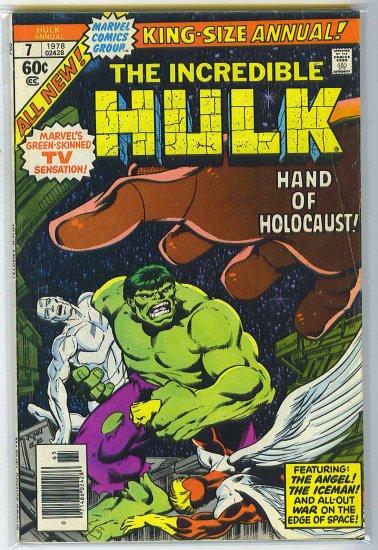 Incredible Hulk Annual # 7, 4.5 VG +