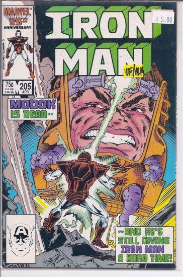 Iron Man # 205, 9.0 VF/NM