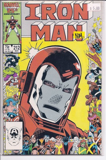 Iron Man # 212, 9.4 NM